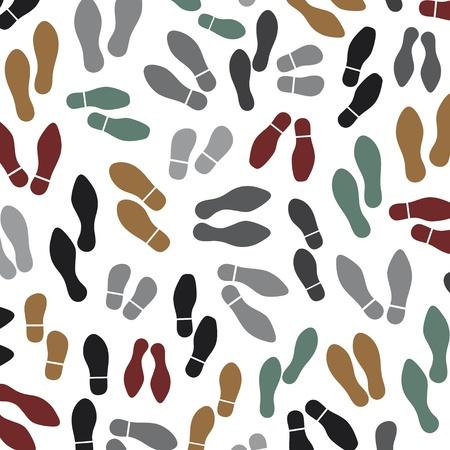 Schuhe Silhouette nahtlose Hintergrundabdruck Sohlen Schuhe Hintergrund, Sohle druckt Hintergrund, schwarze Vektor Spur Fuß, Schuhdruck Hintergrund, Schuhe Silhouette