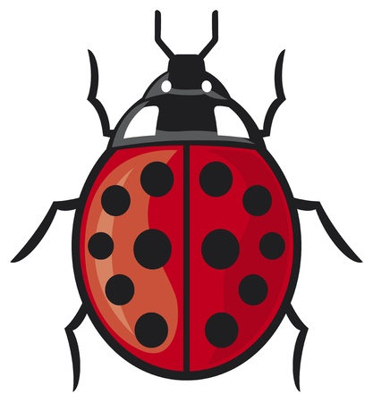 lady bug: Marienk�fer Vektor-Illustration einer Frau Fehler Illustration