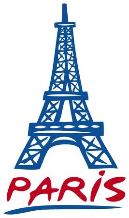 francia: Torre Eiffel de Par�s Torre Eiffel dise�o del icono, dibujo de la torre Eiffel de Par�s