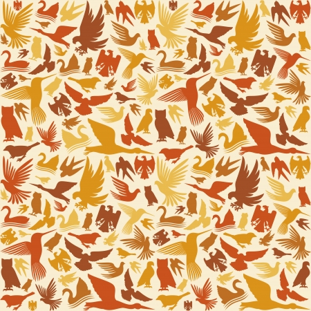 decorative bird background  background with birds Vector