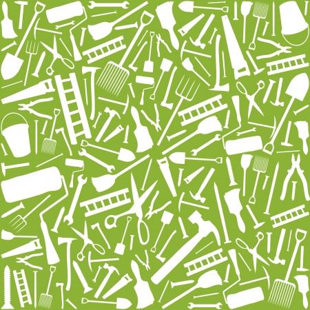 serrucho: herramientas de jard�n sin patr�n Vectores
