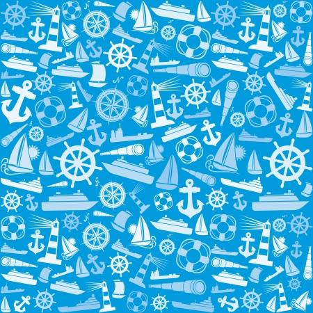 canotaje: iconos n�uticas y marinas de fondo sin fisuras marinas iconos patr�n abstracto textura transparente, patr�n iconos n�utico transparente Vectores