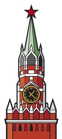 spasskaya: kremlin tower with clock in moscow, russia  spasskaya tower of the moscow kremlin, kremlin clock of the spasskaya tower, red clock tower of moscow, moscow kremlin tower