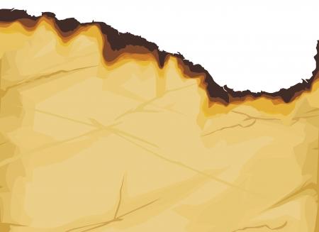 burnt paper: vintage grunge burnt paper  burned paper  Illustration