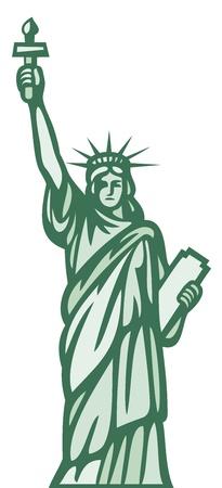 dama de la justicia: estatua de la libertad Vectores
