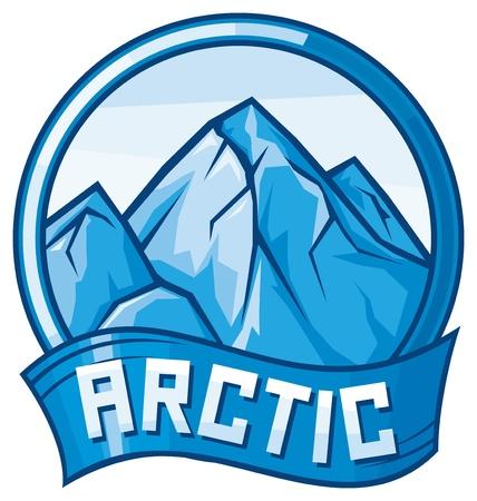 berg: arctic design  arctic label  Illustration