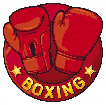 guantes de boxeo: boxeo etiqueta boxeo símbolo, diseño boxeo