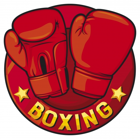 boxer: boxing label  boxing symbol, boxing design