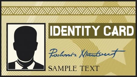 carta identit�: carta di identit� Vettoriali