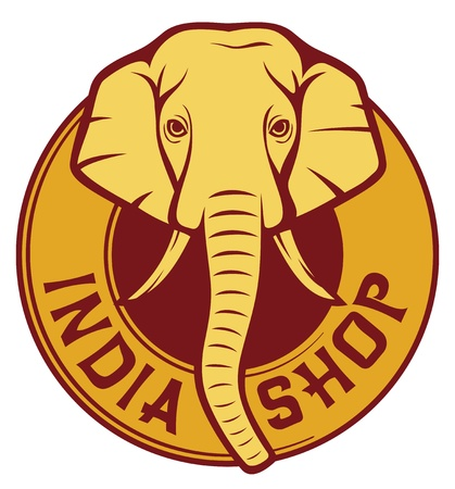 india shop Stock Vector - 20192011