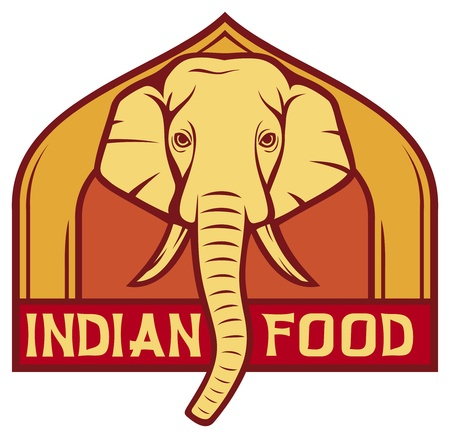 indian food: indian food label  design