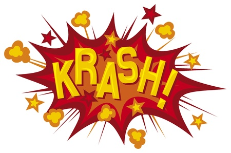 cartoon - krash  comic book element  Vector