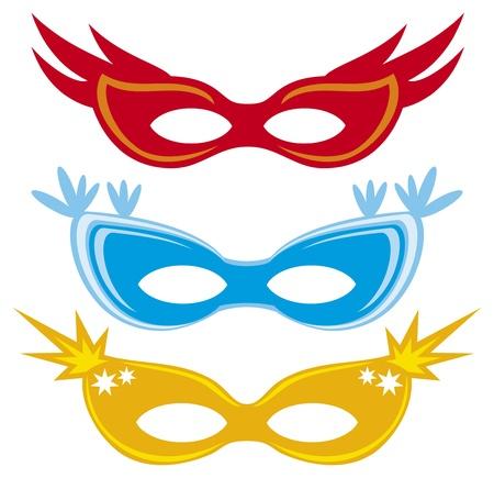 vector carnival masks  masks for masquerade Stock Vector - 20192005