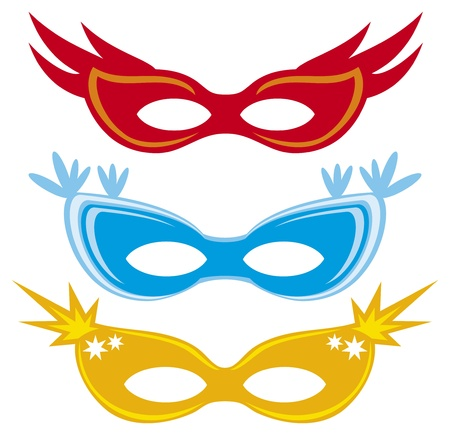undercover: vettoriali maschere di carnevale maschere per masquerade
