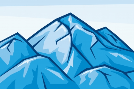 snow capped: vector illustration of mountain landscape Illustration