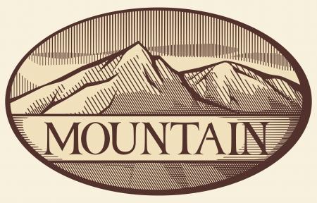 Vector illustration du paysage de montagne Banque d'images - 20192046