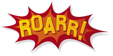 cartoon - roar  comic book  Vector