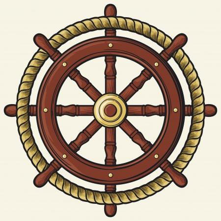 rudder: rudder design  badge, emblem  Illustration