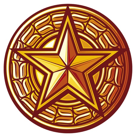 soviet: star  star seal, sign, symbol, badge