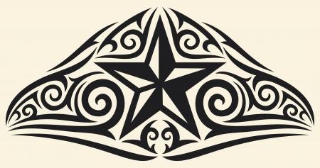 arm tattoo: star tribal design  star tattoo design