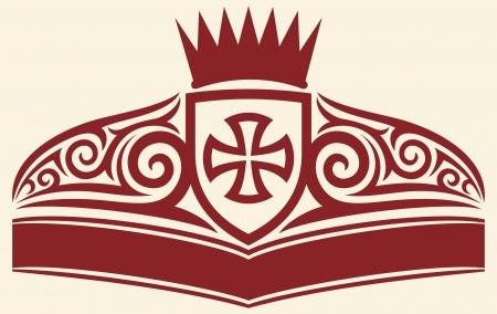teutonic: tattoo cross symbol Illustration