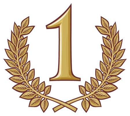 místo: První místo vítěz, číslo jedna horní