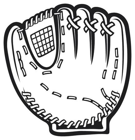 mitt: baseball glove Illustration
