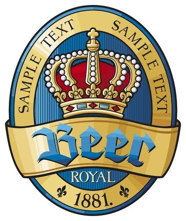 vintage: sör címke tervezés Illusztráció