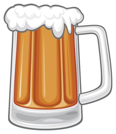 illustration background: beer mug