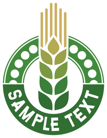 grain fields: wheat sign - badge  design