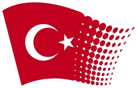 turk: Turkey flag  flag of Turkey  Illustration