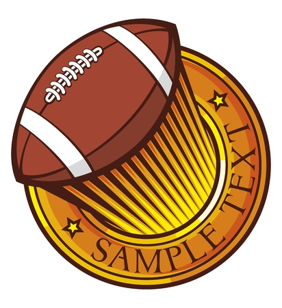 american football  rugby  club emblem Stock Vector - 20303553