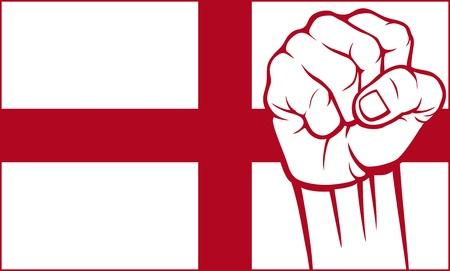 england fist  flag of england Stock Vector - 20303511