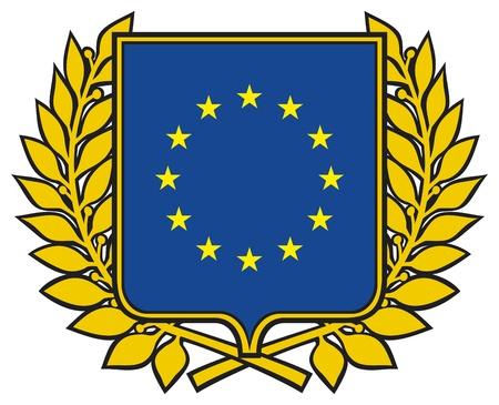 eu flag: european union emblem  symbol, sign, design