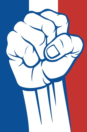 france fist Stock Vector - 20303508