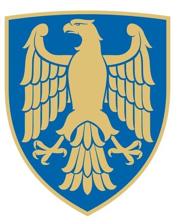 heraldic symbols: eagle  coat of arms, emblem