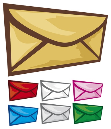 Mail  Envelope  icon set Stock Vector - 20591608