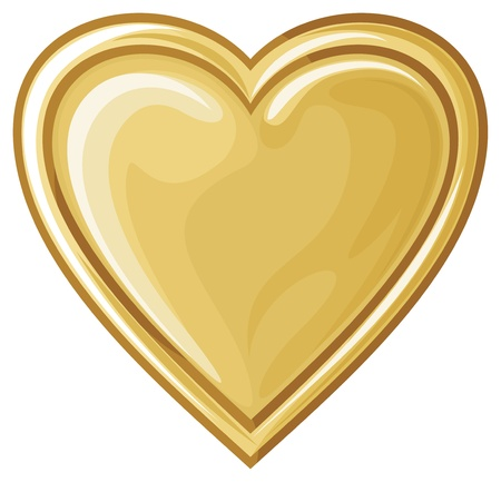 golden heart Stock Vector - 20591536
