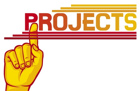 Hand Gesture  projects  Stock Vector - 20591600