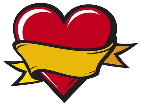 Heart - tattoo style Фото со стока - 20591519