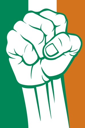 ireland fist Vector