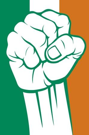 irish pride: ireland fist
