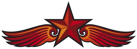 marxism: star and wings tattoo