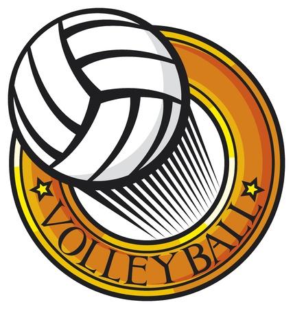 volleyball club emblem  label, design  Illustration