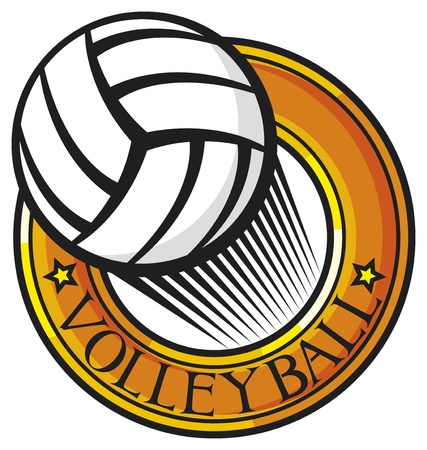 volleyball club emblem  label, design  Vector
