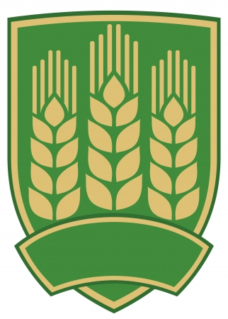 wheat emblem  design  Vector