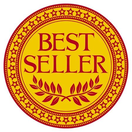 best seller sign  symbol  Vector