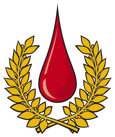 Blood drop symbol Stock Vector - 20591670