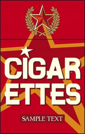 cigarette pack: cigarettes label Illustration
