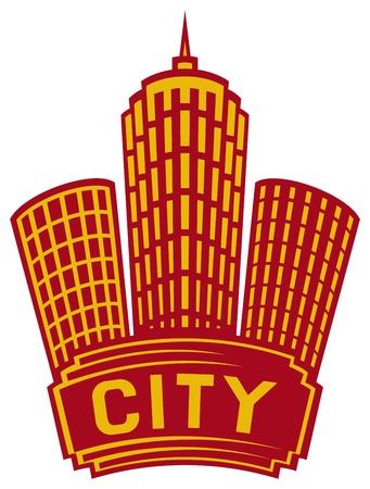 Silhouette City Stock Vector - 20581735